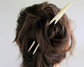 Deer Antler Tip Hair Fork -REM- Hair Stick Long Hair Toy