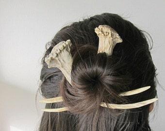 Deer Horn Antler Hair Forks Sticks Unique Hair Pins Woodland Wedding Comb
