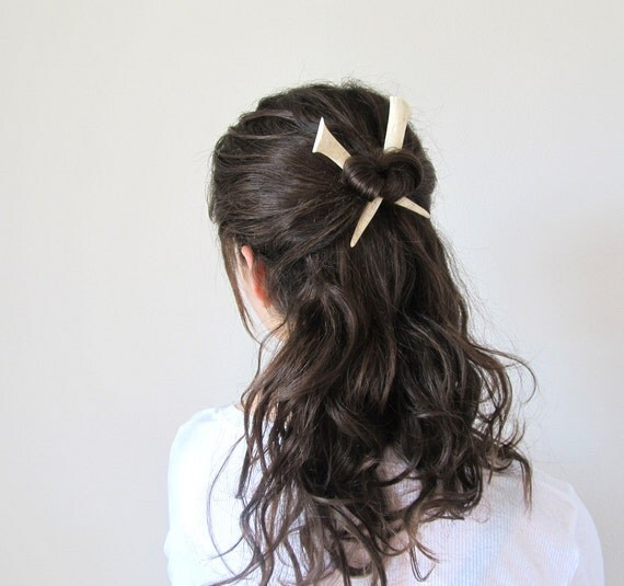 Small Antler HairSticks Tribal Chic Hair Accessory