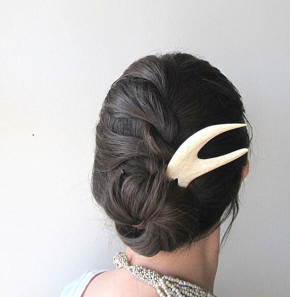 Deer Antler Hair Fork Unusual Statement Hair Piece Bohemian Hair Comb