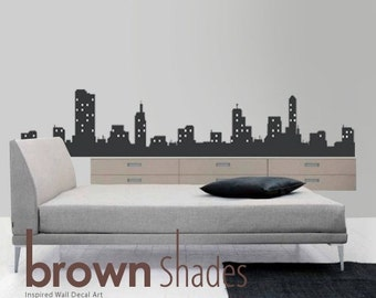 NEW : Modern City View Wall Vinyl Decal - Removable Vinyl Decal
