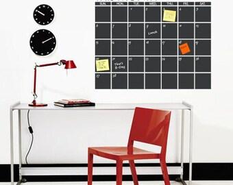 Chalkboard Monthly Planner - Chalkboard wall decal