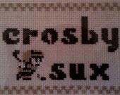 Crosby Sux Original Cross Stitch