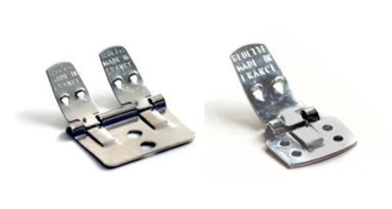 24 - BLUETTE shoe clip SAMPLER - the original - Made in France - Packet of 24 - Bridal supplies
