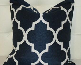 Two, Moroccan Quatrefoil Pillow, Trellis Pillow - 20X20 - PRINT on BOTH sides