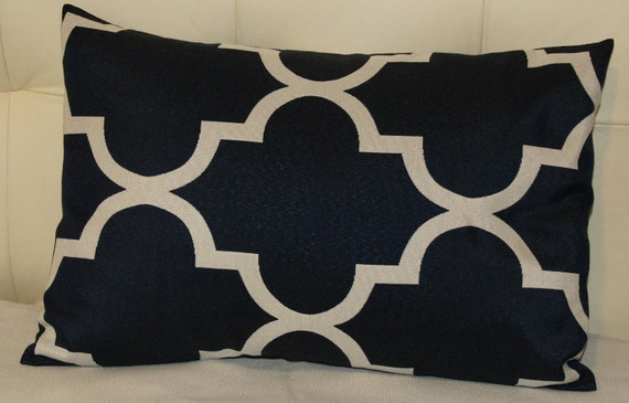 Decorative Pillow Cover -  Print on Both Sides - Lattice Print Designer Pillow Cover - 12X18