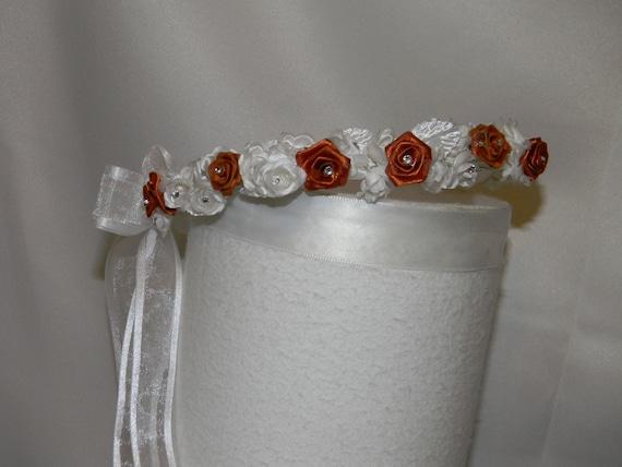 Items Similar To Wedding Flower Girl Halo Wreath Bridesmaid Head Piece