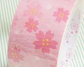 Kawaii Pink Cherry Blossom Wide Deco Tape - 5cm x 15m (49 ft)