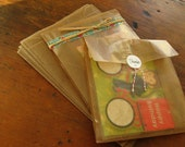 Eco Friendly Food Safe Waxed Kraft Paper Bags, Gift Bags, Favor Bags - 7.8 x 6 x 2.75 Set of 60