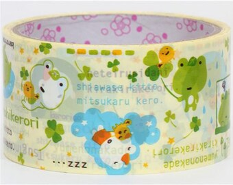 Kawaii Kerori Frog Deco Tape by San-X - 5cm x 15m (49 ft)