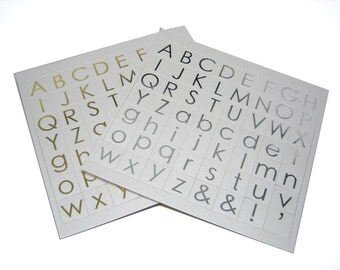 Alphabet Embellishment By Craftworkcards - Gold and Silver Letters