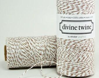 Brown Bakers Twine - 240 yards Spool Baker String