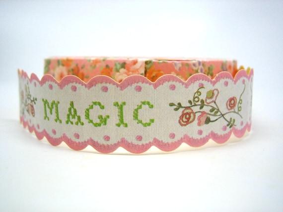 Romantic Scalloped Edge Floral Paper Craft Tape - MAGIC (2cm x 1.5m)