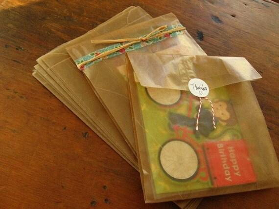 Kraft Bags, Cookie Bags, Bakery Bags, Gift Bags, Favor Bags - 7.8 x 6 x 2.75 Set of 60
