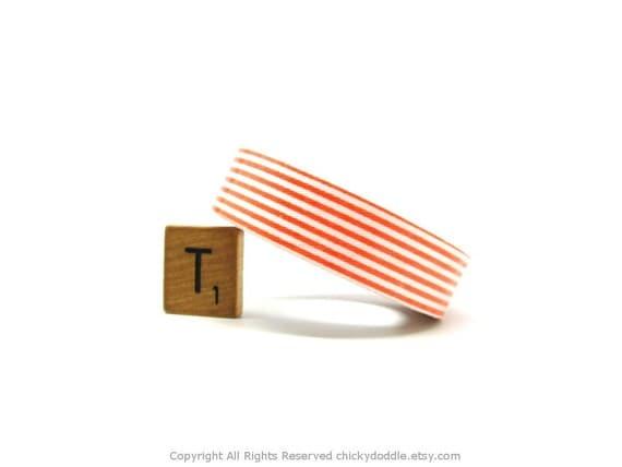 Orange Stripe Fabric Tape (1.5cm x 5m)