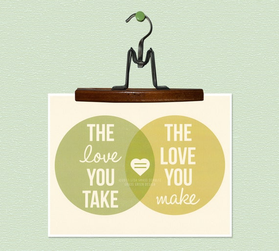 The Love You Take Is Equal To The Love You Make 8x10 Retro Print