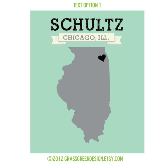 8x10 Customizable City and State Last Name Art Print - The PERFECT GIFT