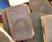 Set of 18 Antique Leather Books- Paper Ephemera