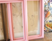 RESERVED-Pair of Cottage Pink Wooden Frames- Frames/ Mirrors