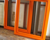 Pair of Cottage Orange Wooden Frames- Frames/ Mirrors