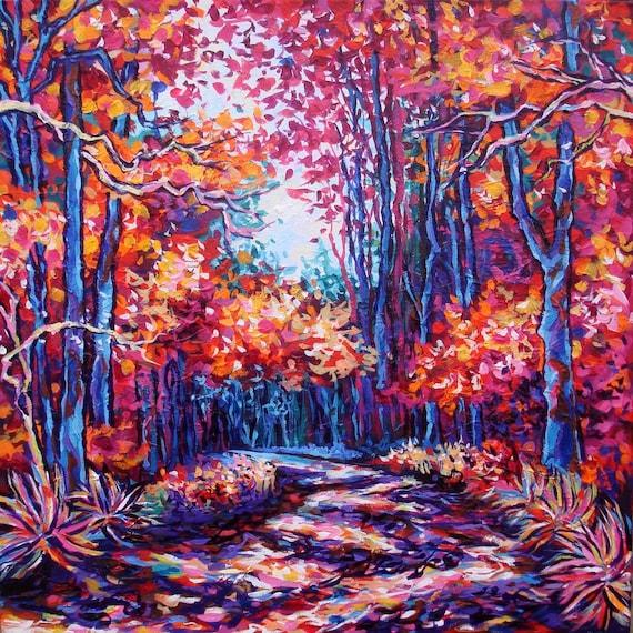 Original Painting - Autumn's Ascent