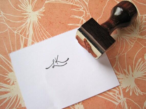 custom 'initial' stamp