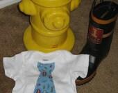Adorable Little Gentleman Firefighter Tie Onesie