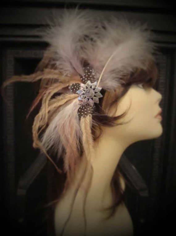 Feather Hair Clip, Feather Fascinator