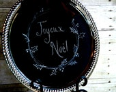 Wedding French Tuscan Old World Chalkboard and Magneticboard all in one.  Free piece of chalk included.