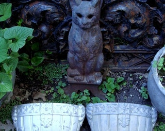 Pair of Antique Funeral Grave Urns from France