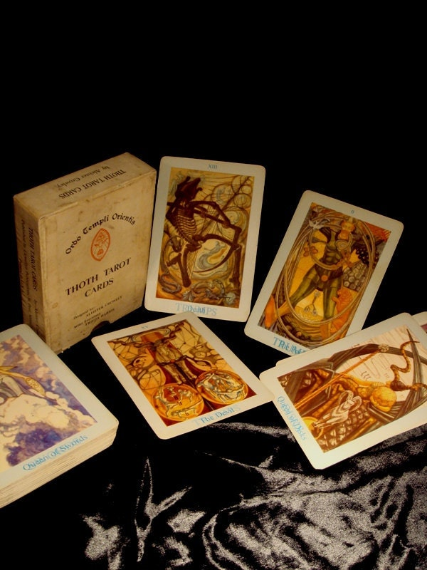 Antique Deck Of Aleister Crowley Thoth Tarot Cards In Original