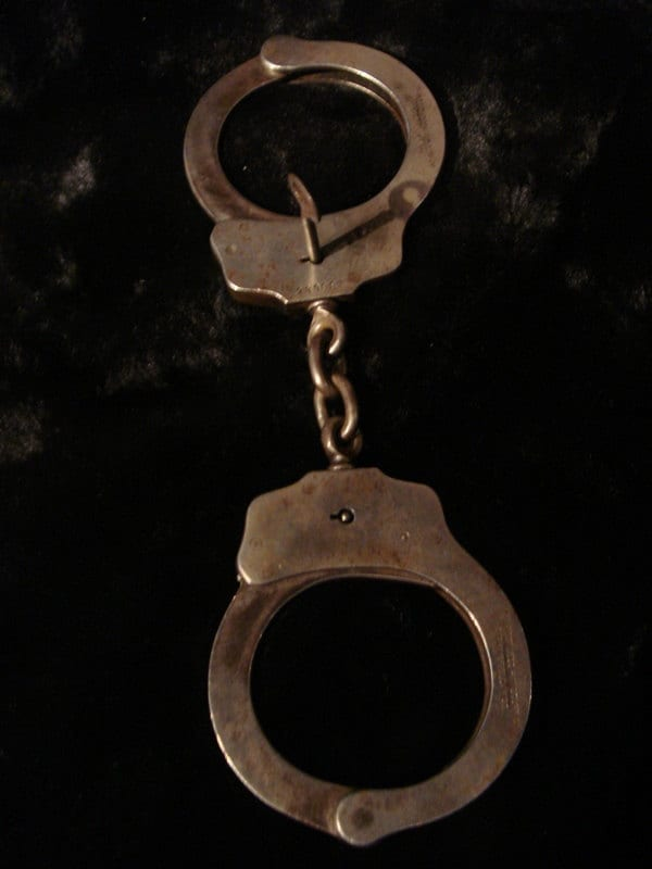 Vintage Peerless Handcuffs Police Issue Original At Gothic