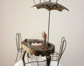"""Tea Time Music Box/ Flower Pot/ Candleholder-- Plays """"Tea For Two"""""""