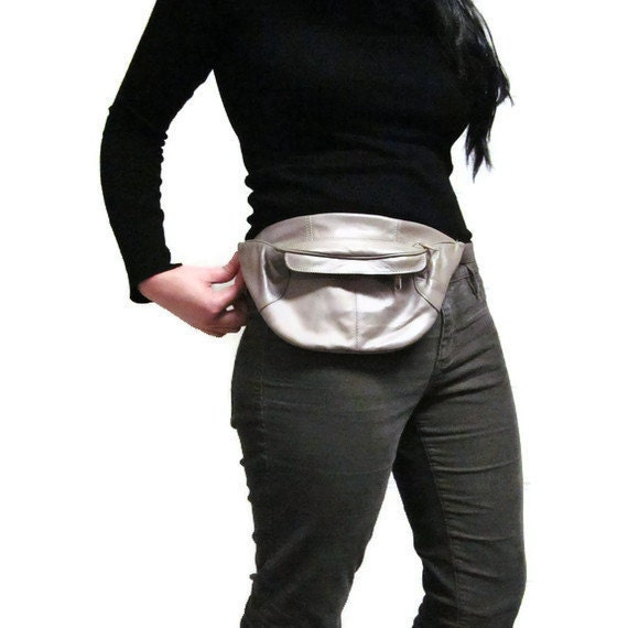 Leather Fanny Pack -- Betty White Speedwalking Hip Bag