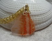 Orange Handblown Glass Necklace