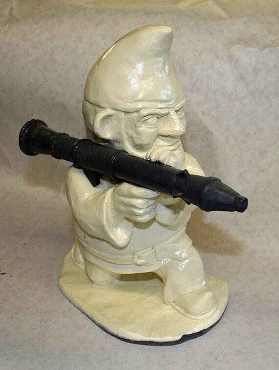 Unpainted combat garden gnome with rocket launcher for Combat garden gnomes