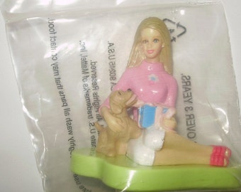 Happy Birthday Barbie  and Puppy Cake Topper