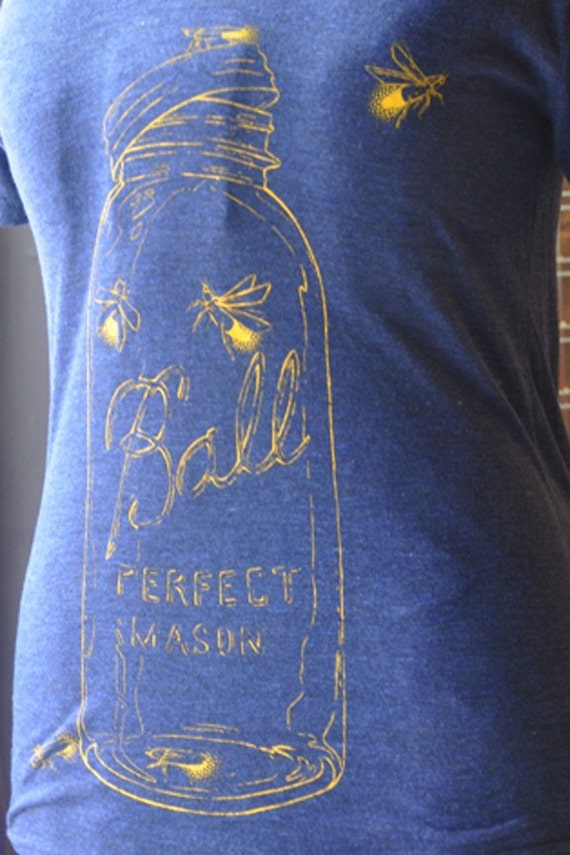 Firefly/ Blue American Apparel/ Unisex Small