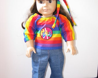 American Girl Doll Style Hippie Julie outfit