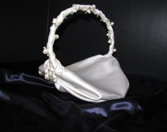 Flower Girl Basket,  Create it and I will make it. Satin, Lace, flowers, beads, ribbons