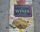 "Vintage Wine Connoisseur Book ""The Red, White & Rosé of Wines"" by William E. Massee - FREE SHIPPING"