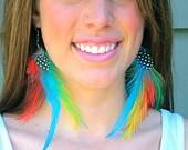 FARRAH- Colorful Long Dangle Feather Earrings