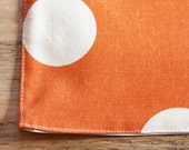 Placemats - Orange with White Polka Dots - Set of 4