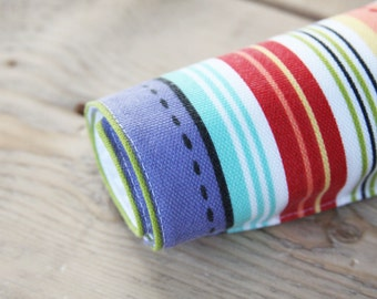 Pet Food Mat - Colorful Stripes in Small Size - READY TO SHIP