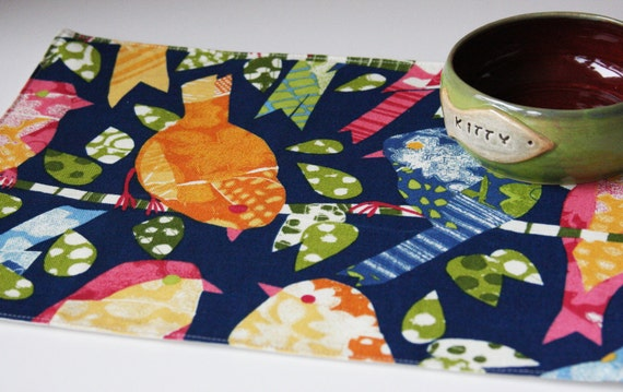 Pet Placemat Birds on a Wire:  Small Size LAST ONE available in this style
