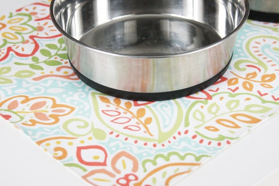 Pet-Mat - White with colorful flowers: Large Size READY TO GO