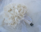 Sale- Beautiful fabric flower bouquets 10 piece package in custom colors and style