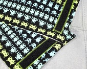SALE Baby Carrier Chew Strap Covers - Space Invaders - Ergo Beco Mei Tai - Ready to Ship