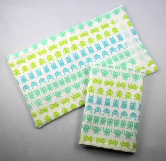 SALE Baby Carrier Chew Strap Covers - Space Invader - Ergo Beco Mei Tai - Ready to Ship