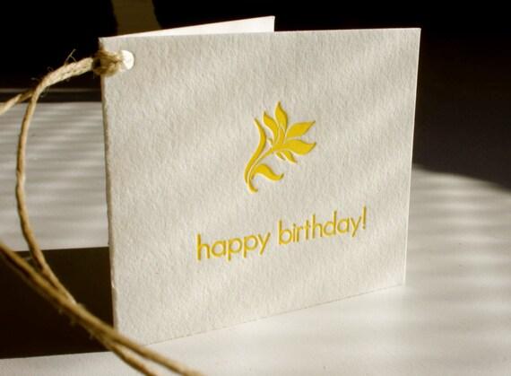 ON SALE - Letterpress Birthday Gift Tags  - set of 6